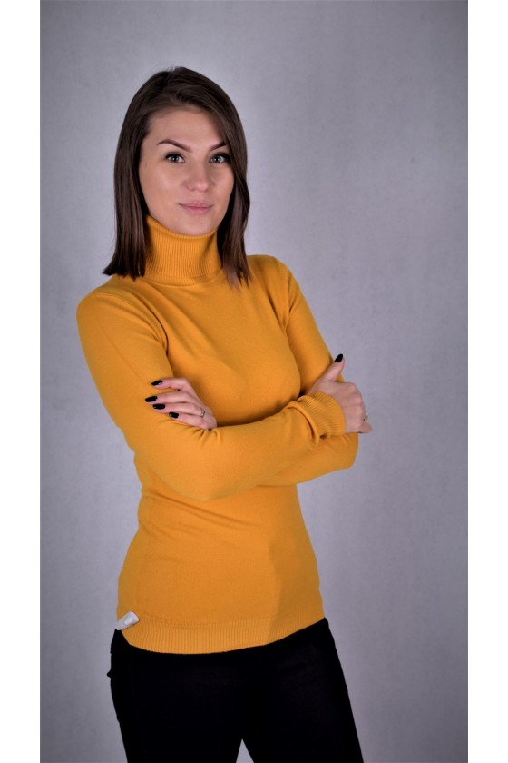 DZIANINOWY SWETER GOLF ORANGE ONE SIZE